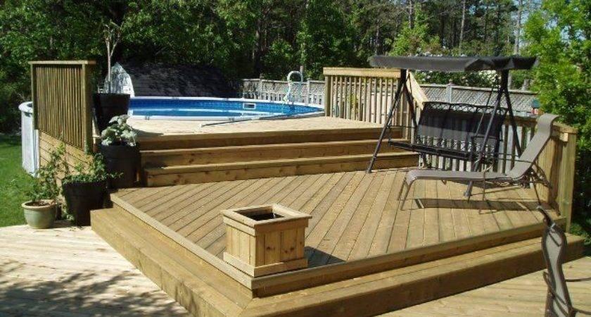Above Ground Pool Decks Round Deck Plan