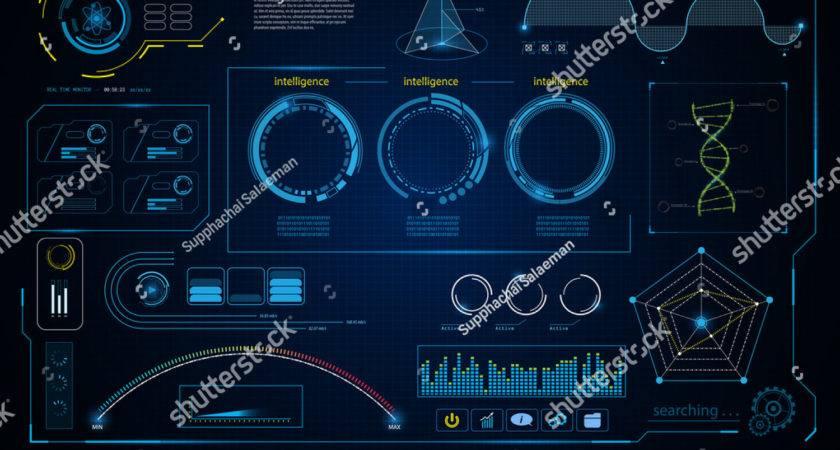 Abstract Hud Intelligence Interface Data Computing