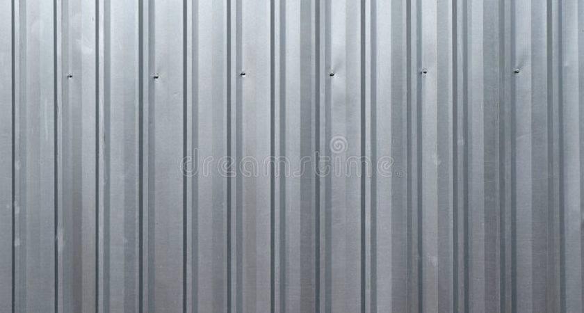 Abstract Silver Metal Sheet Wall