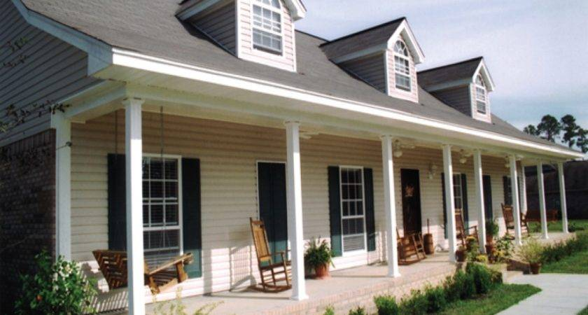 Acadian Style House Plan Modern Front Porch Ideas