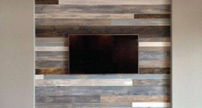 Accent Wall Made Out Pallets Wooden