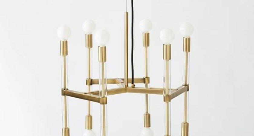 Acrylic Framework Chandelier Round West Elm
