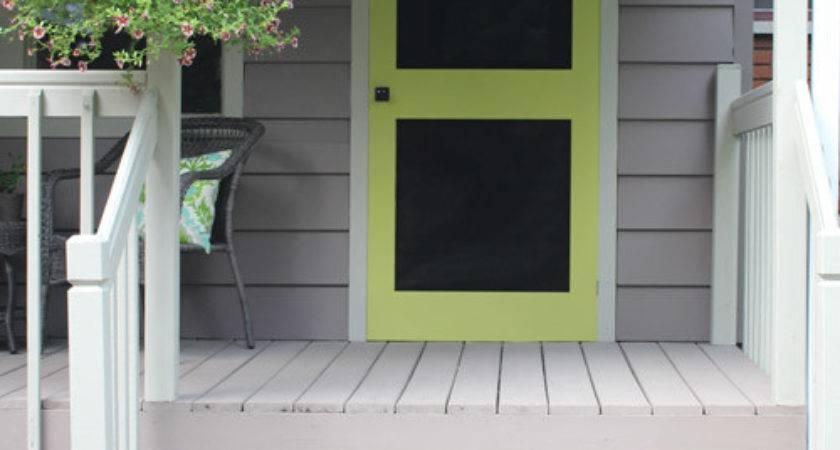 Add Punch Color Porch Diy Screen Door