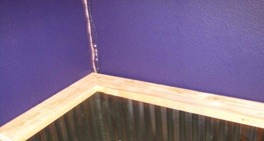 Adding Corrugated Metal Wainscoting Type Wall