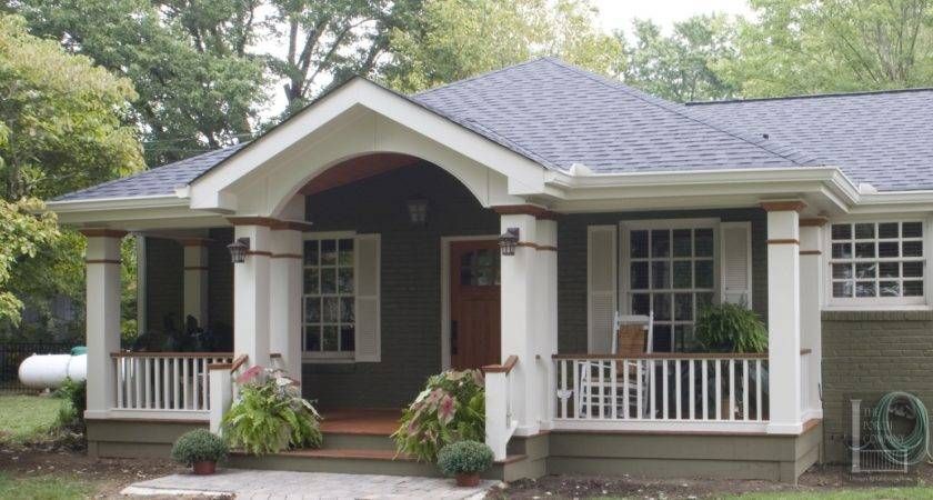 Adding Covered Porch Ranch House