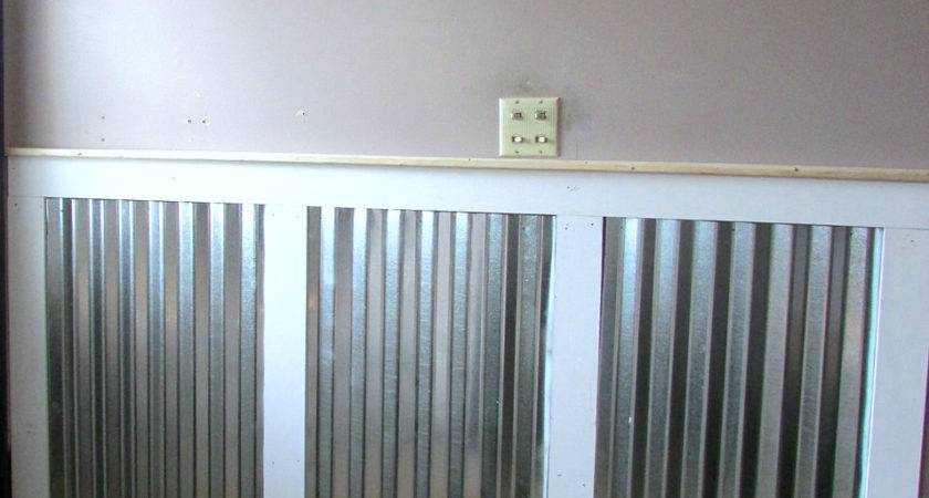 Adding Galvanized Tin Wainscoting Rustic Refined