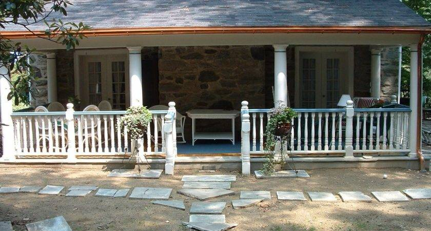 Adding Porch Colonial House