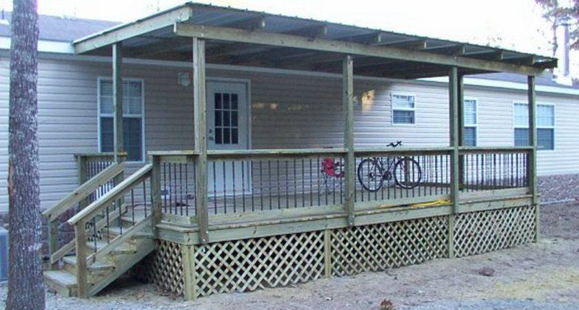 Adding Roof Existing Deck Sunsetdecks Mobilehomes