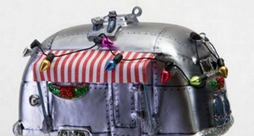 Airstream Camper Awning Mercury Glass Christmas