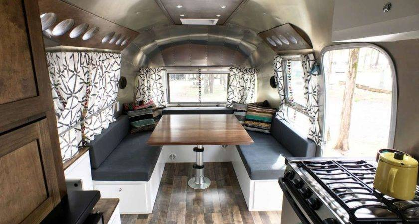 Airstream Renovation Tour Before After Vintage