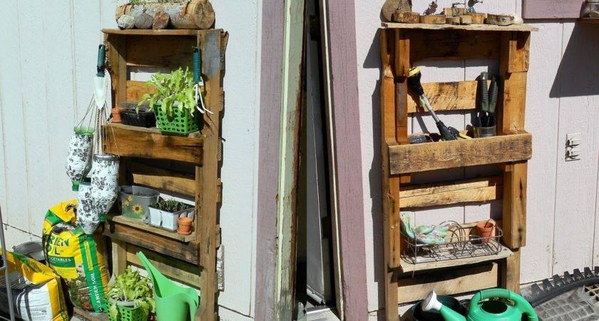 All Things Alysha Upcycled Pallet Gardening Shelves