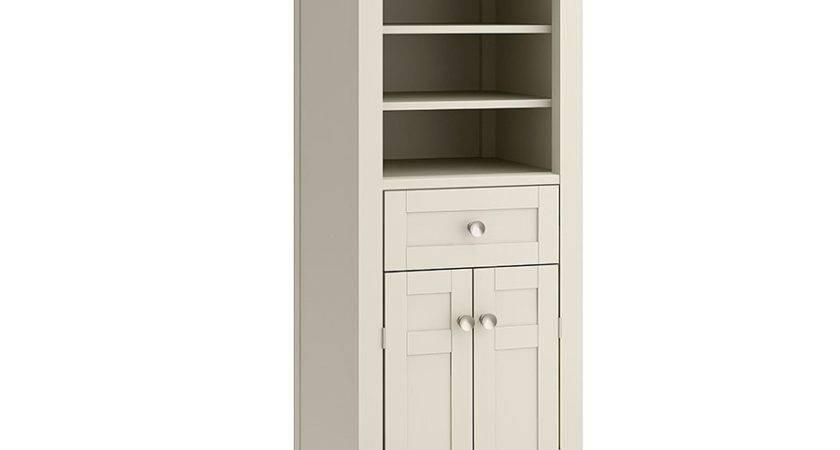 Allen Roth Wrest Park Cream Linen Cabinet Inch