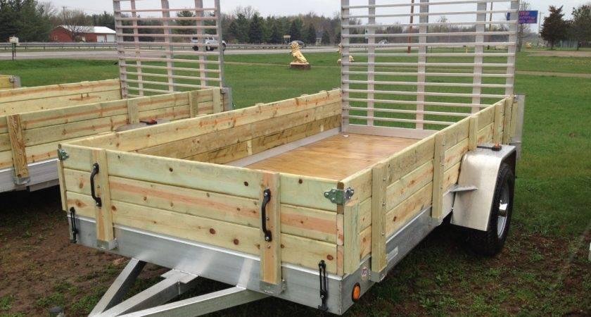 Aluminum Utility Trailer Series Wood Floor