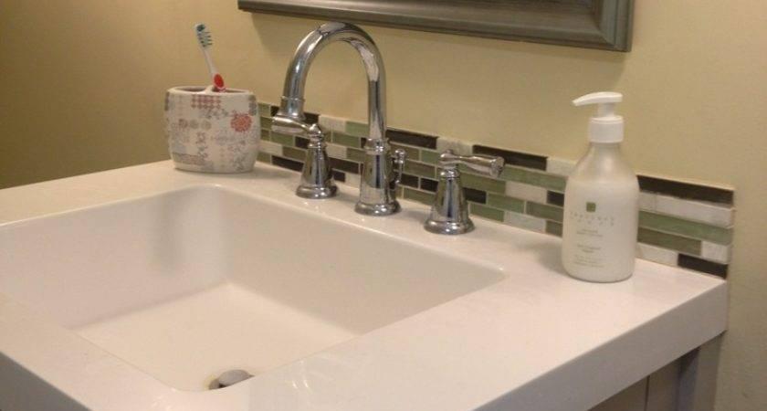 Amazing Bathroom Makeovers Glass Tile