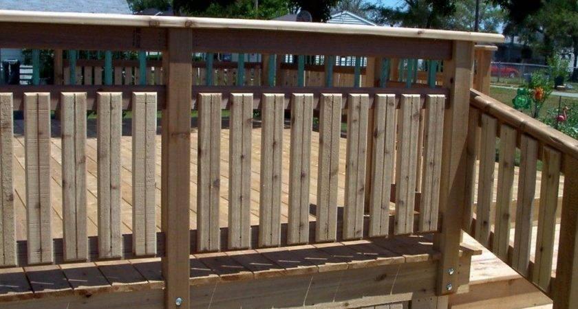 Amazing Deck Railing Plans New Decoration