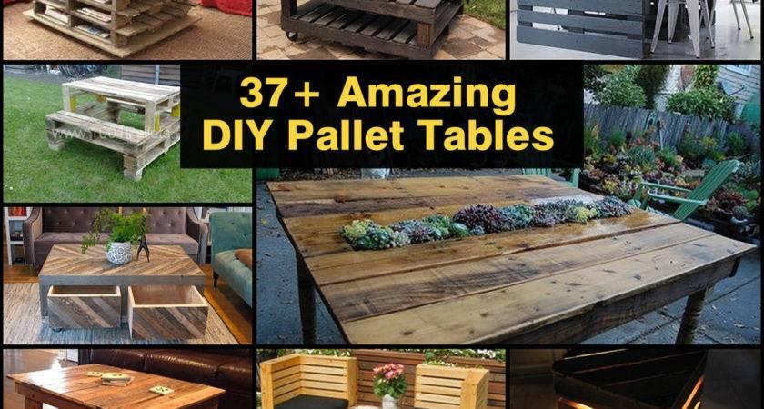 Amazing Diy Pallet Tables