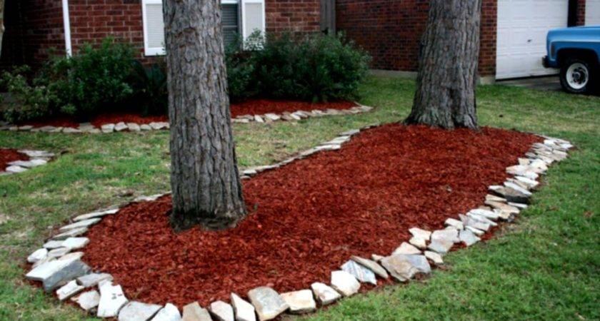 Amazing Green Landscaping Ideas Mulch Rock Shrubs