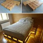 Amazing Ideas Wooden Pallet Bed Storage Idea