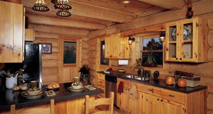 Amazing Log Cabin Kitchen Cabinets Small
