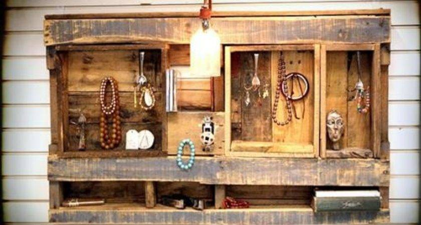 Amazing Uses Wooden Pallet Wall Shelves Pallets Designs