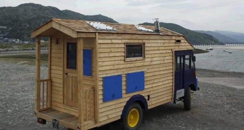 Amazing Wooden House Truck Home Design Garden