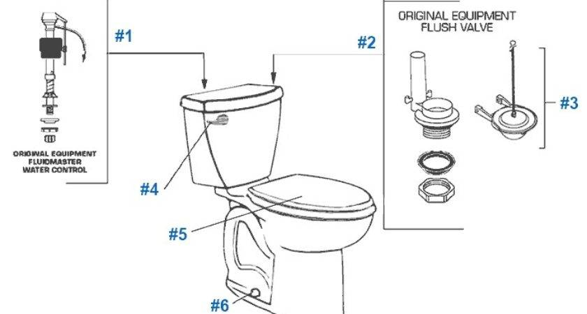 American Standard Toilet Repair Parts Cadet Series