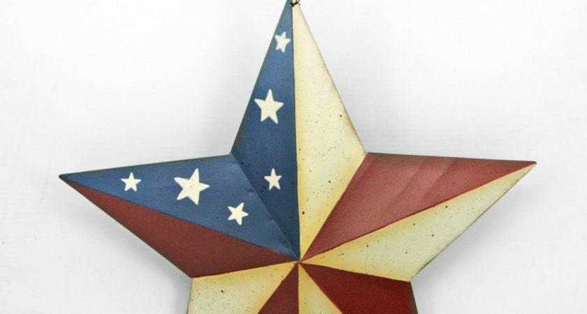 Americana Metal Star Wall Hanging