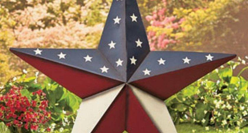 Americana Star Decor Red White Blue July