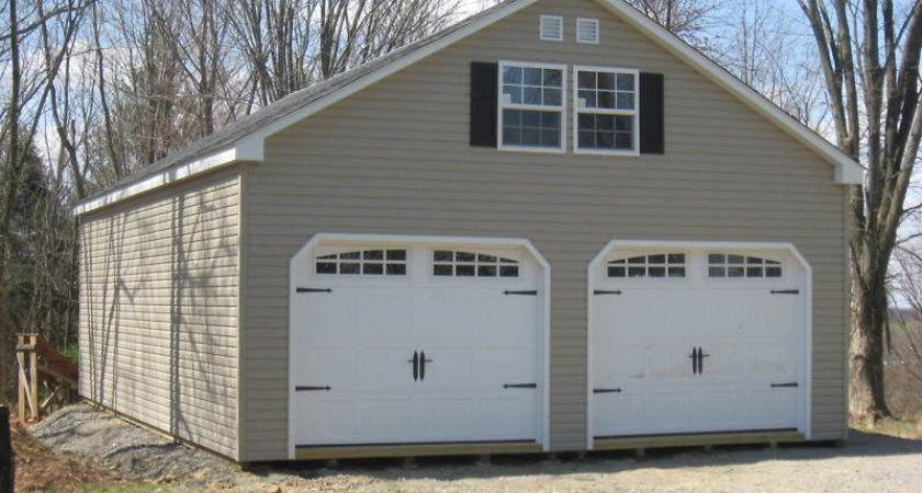 Amish Double Wide Story Vinyl Garage Shed New Ebay