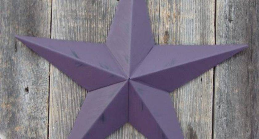 Amish Handcrafted Rustic Painted Metal Tin Barn Stars