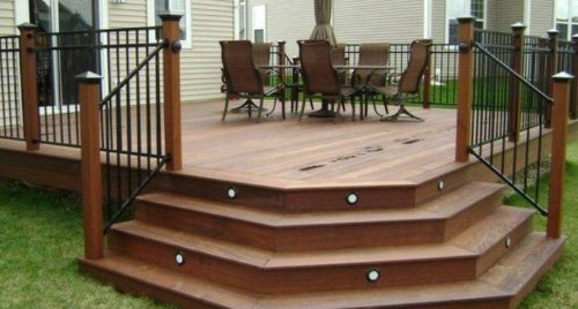 Angled Deck Stairs Ideas Remodel Decor