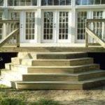 Angled Deck Stairs Wrap Around Edge