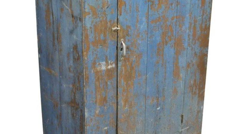Antique Blue Distress Painted Rustic Primitive Jelly