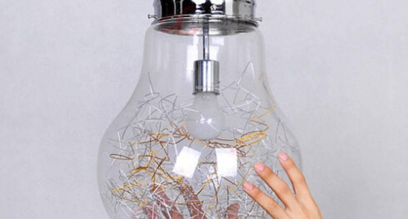 Antique Industrial Diy Big Edison Bulb Glass Ceiling Lamp