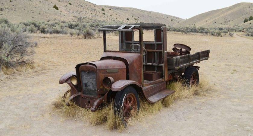 Antique International Truck Shooting Hip