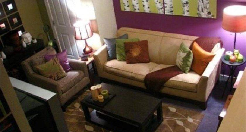 Apartment Living Room Decor Purple