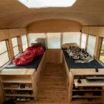 Architecture Student Converts Old School Bus Into