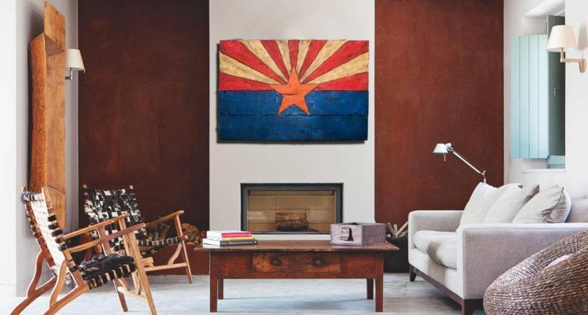 Arizona Flag Handmade Distressed Painted Wood Vintage