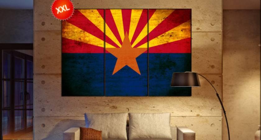 Arizona State Flag Canvas Art Print Large Wall