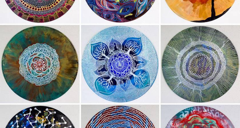 Art Therapist Paints Mandalas Vinyl Records Bored Panda