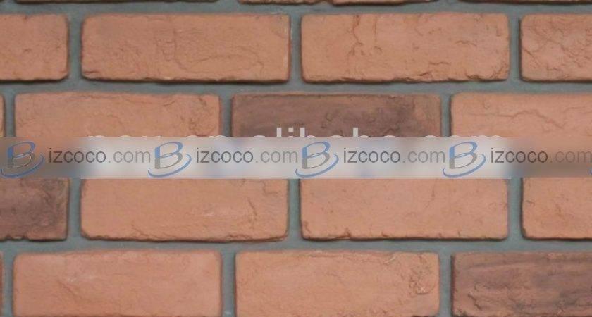 Artificial Stone Fireplace Decorative Bricks Plastic Red