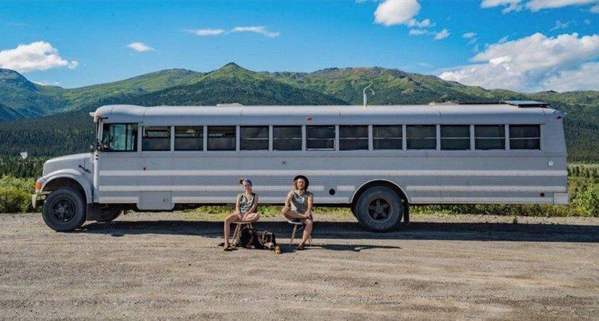 Artsy Couple Turned School Bus Into Loft Wheels