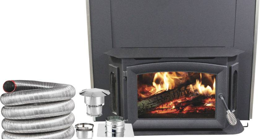 Ashley Bayfront Wood Burning Insert Deluxe Kit