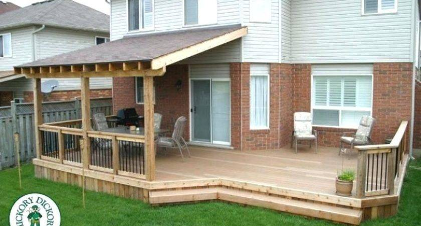 Attach Roof Over Deck House Install