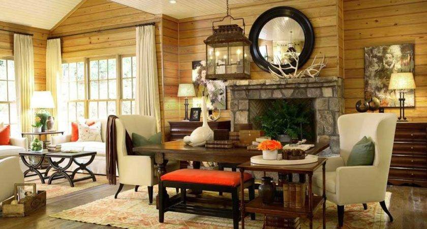 Attractive Decorate Country Living Room Including Best