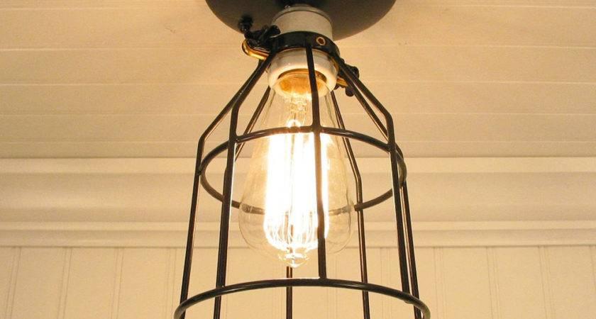 Auburn Port Industrial Cage Ceiling Light Edison Bulb