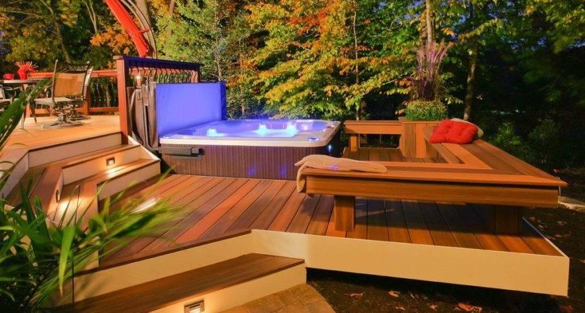 Awesome Decks Hot Deck Backyard Brick