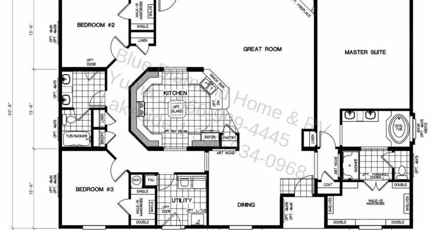 Awesome Mobile Homes Plans Triple Wide Home