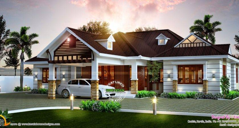 Awesome Single Storied Home Kerala Design Floor