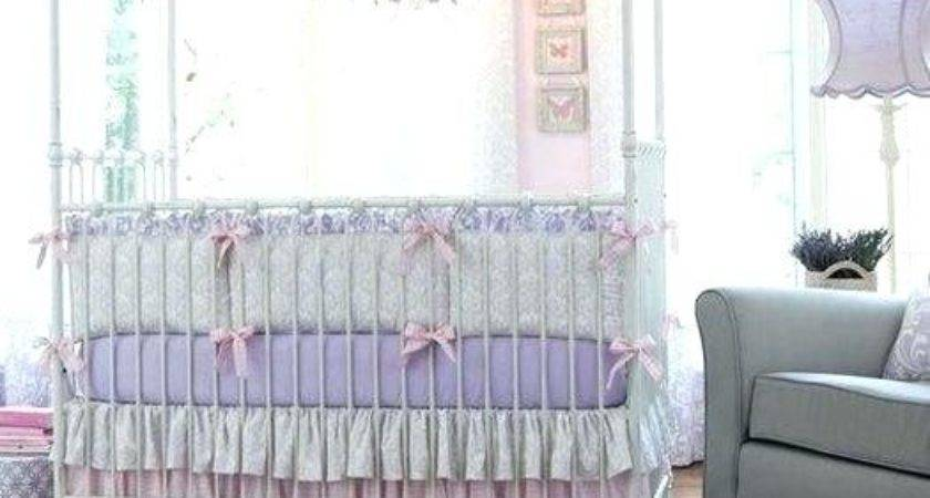 Baby Crib Bedding Beautiful Pink Gray Traditions Girl
